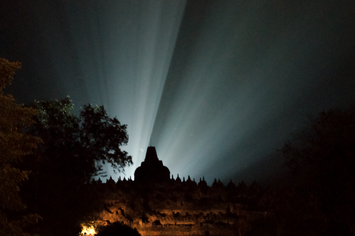 Light up of Borobudur