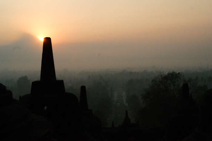 The sun rise of Borobudur