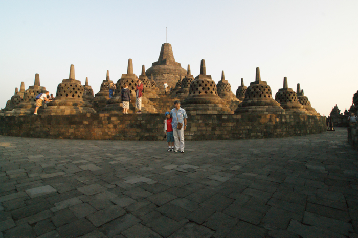 Commemorative photo at Borobudur