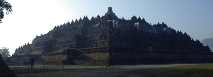 Panoramic photo of Borobudur